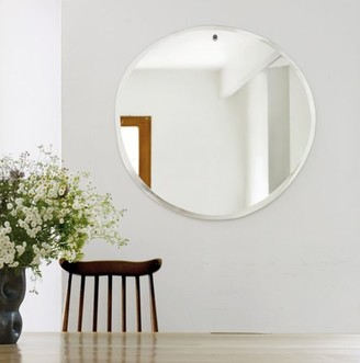 M Nuance - Extra Large Silver Morning Round Mirror - silver | XL . | glass - Silver/Silver