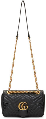 Gucci Black Small GG Marmont 2.0 Shoulder Bag