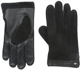 Joseph Abboud Men's Leather and Deersuede Gloves with Cashmere Lining