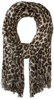 MICHAEL Michael Kors Large Spotted Cheetah Double Printed Metallic Raschel Scarves