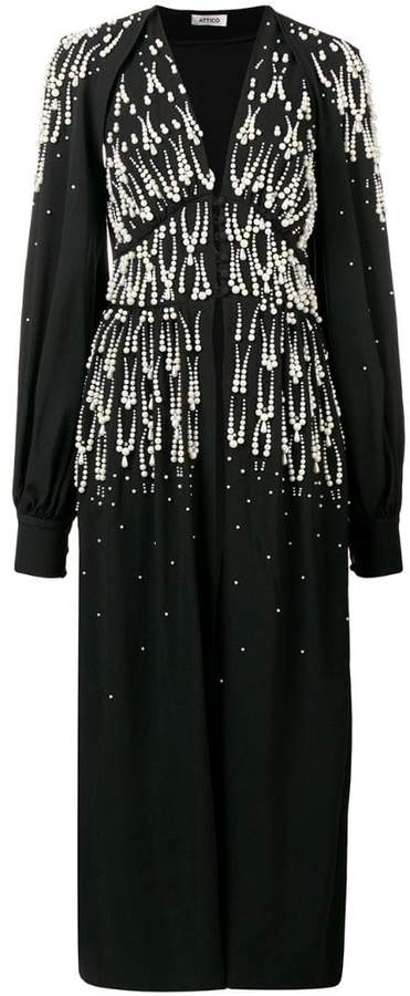 ATTICO beaded V-neck dress