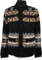 Sacai Black Layered Cardigan