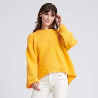 Naadam Cashmere Chunky Crewneck Sweater Marigold