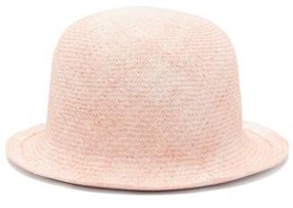 Reinhard Plank Hats - Bombetta Cotton-straw Bowler Hat - Womens - Pink Multi