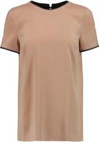 Brunello Cucinelli Silk-blend crepe de chine T-shirt