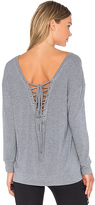 Blue Life Fit Tied Up Sweatshirt in Gray. - size S (also in XS)