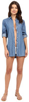 Tommy Bahama Chambray Boyfriend Shirt Cover-Up
