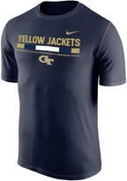 Nike Men's Navy GA Tech Yellow Jackets 2017 Sideline Legend Dri-FIT T-Shirt