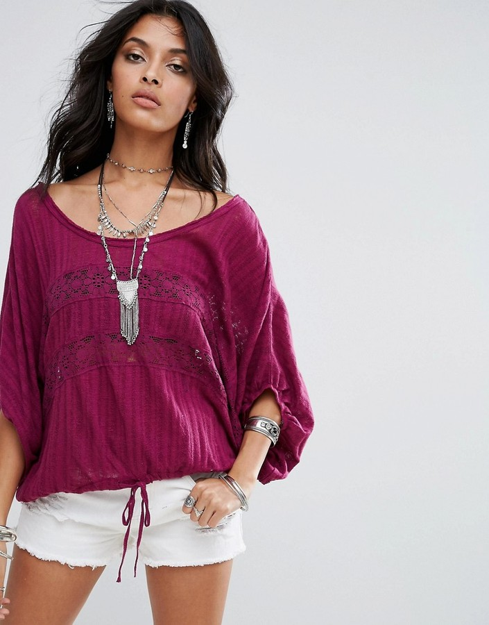 Free People I'm Your Baby Batwing Blouse