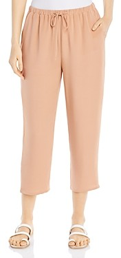 Eileen Fisher Silk Cropped Drawstring Pants
