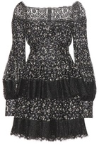 Alexander McQueen Off-the-shoulder Silk Dress