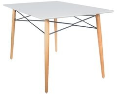 George Oliver Kamron Glass Top Dining Table Table Top Color: White