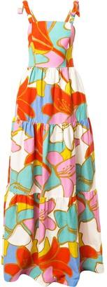 Rebecca Vallance Tirano print maxi dress