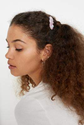 Margherita Chloe Pink Shell Hair Clip - pink at Urban Outfitters