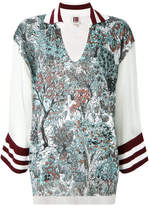 I'M Isola Marras floral contrast top
