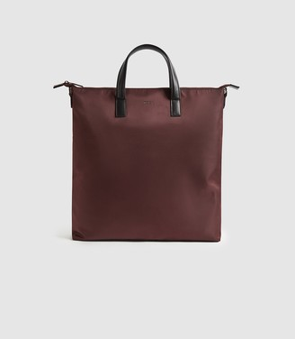 Reiss CARLTON NYLON TOTE BAG Bordeaux