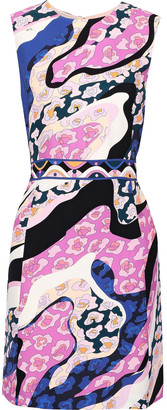 Emilio Pucci Printed Crepe Mini Dress
