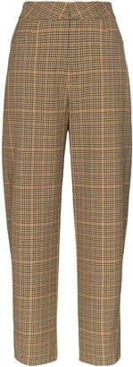 Totême Novara straight-leg check trousers