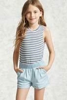 Forever 21 FOREVER 21+ Girls Chambray Shorts (Kids)