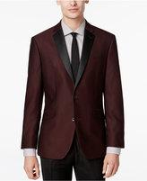 Kenneth Cole Reaction Men's Slim-Fit Burgundy Textured Evening Jacket