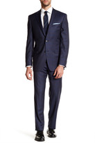 Ike Behar Plaid Wool Suit