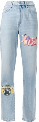 Fiorucci Tara NY patches straight jeans