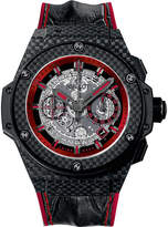 Hublot 701.QX.0113.HR King Power Unico alligator-leather watch