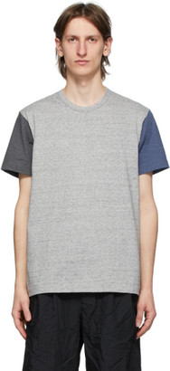 Comme des Garçons Homme Deux Multicolor Colored Sleeves T-Shirt