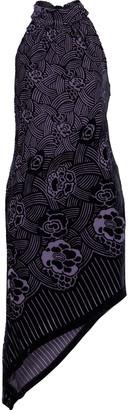 Anna Sui Asymmetric Devore-chiffon Mini Dress