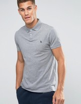 Jack Wills Polo Shirt In Gray Marl