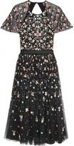 Needle & Thread Starburst Open-back Embellished Tulle Dress