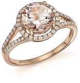 Bloomingdale's Morganite and Diamond Halo Ring in 14K Rose Gold - 100% Exclusive