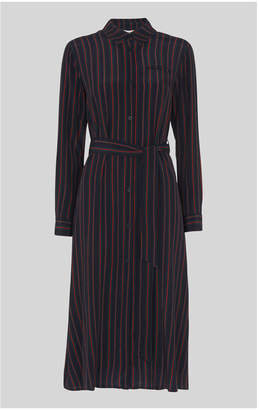 Whistles Stripe Shirt Dress