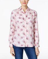 Charter Club Linen Print Shirt, Only at Macy's