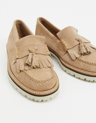 G.H. Bass weejuns 90's layton suede loafers in stone