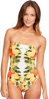 Stella McCartney Iconic Print One Piece Strapless Swimsuit