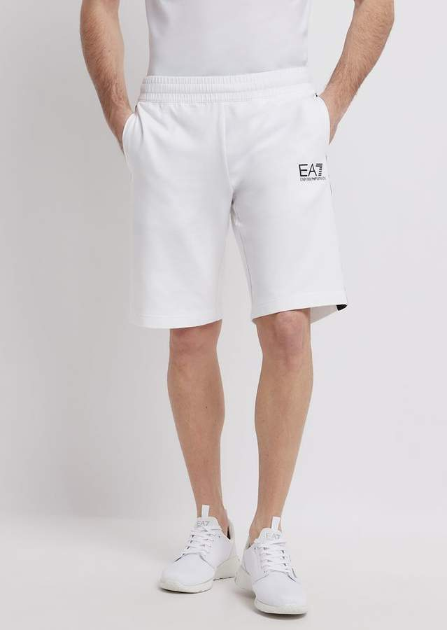 e90f94e9a9 Ea7 Train Logo Bermuda Shorts In Baby French Terry Cotton
