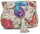 Anuschka Women's Floral Paradise Flap Closure Hobo Bag