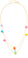 Rebecca Minkoff Savanna Pom Pom Necklace