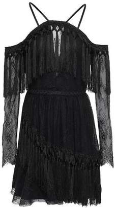 Alice McCall She's Cosmic Layered Fringe-trimmed Lace Mini Dress