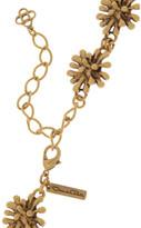 Oscar de la Renta Gold-plated seaweed necklace