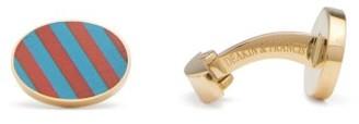 Deakin & Francis Striped Jasper & Lapis Lazuli 18kt-gold Cufflinks - Gold