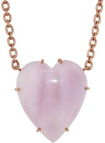 Irene Neuwirth 30.50 Carat Pink Opal Heart Necklace - Rose Gold