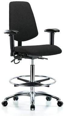 Blue Ridge Ergonomics Ergonomic Drafting Chair Ergonomics Upholstery Color: Black, Casters/Glides: Casters, Customization: Included