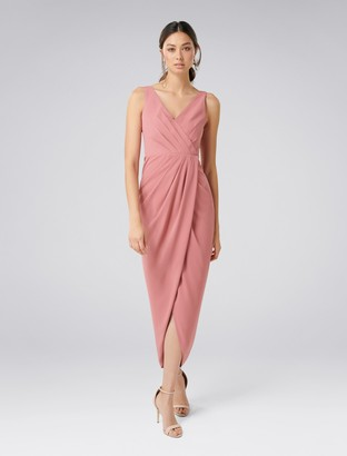 Forever New Victoria Wrap Dress - Queen Mauve - 4
