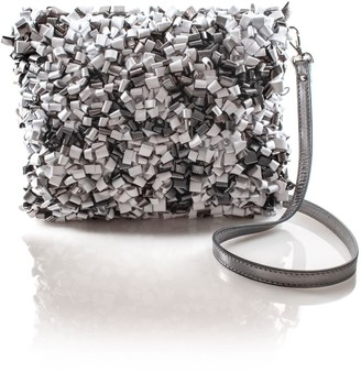 Manley Maisey Cross Body Bag Silver & White