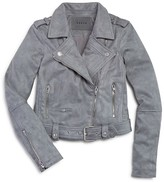 Blank NYC BLANKNYC Girls' Faux Suede Moto Jacket - Big Kid