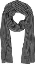 Moschino Dark Gray Knit Wool Blend Men's Long Scarf