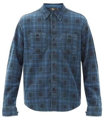Ralph Lauren RRL Ottoman-check Print Cotton-jersey Shirt - Dark Blue