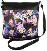 Bettie Page Women's Collage Messenger Bag BPG1081
